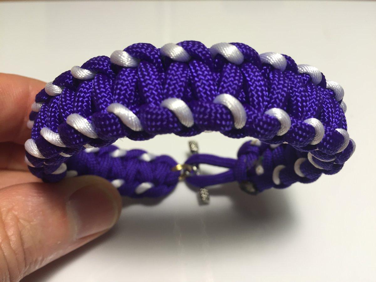 Purple & White fan bracelet order > http://goo.gl/Zjq5Sl   Handmade by #Veteran plz retweet #vikings #minnesotapic.twitter.com/y2mZUyvEGJ