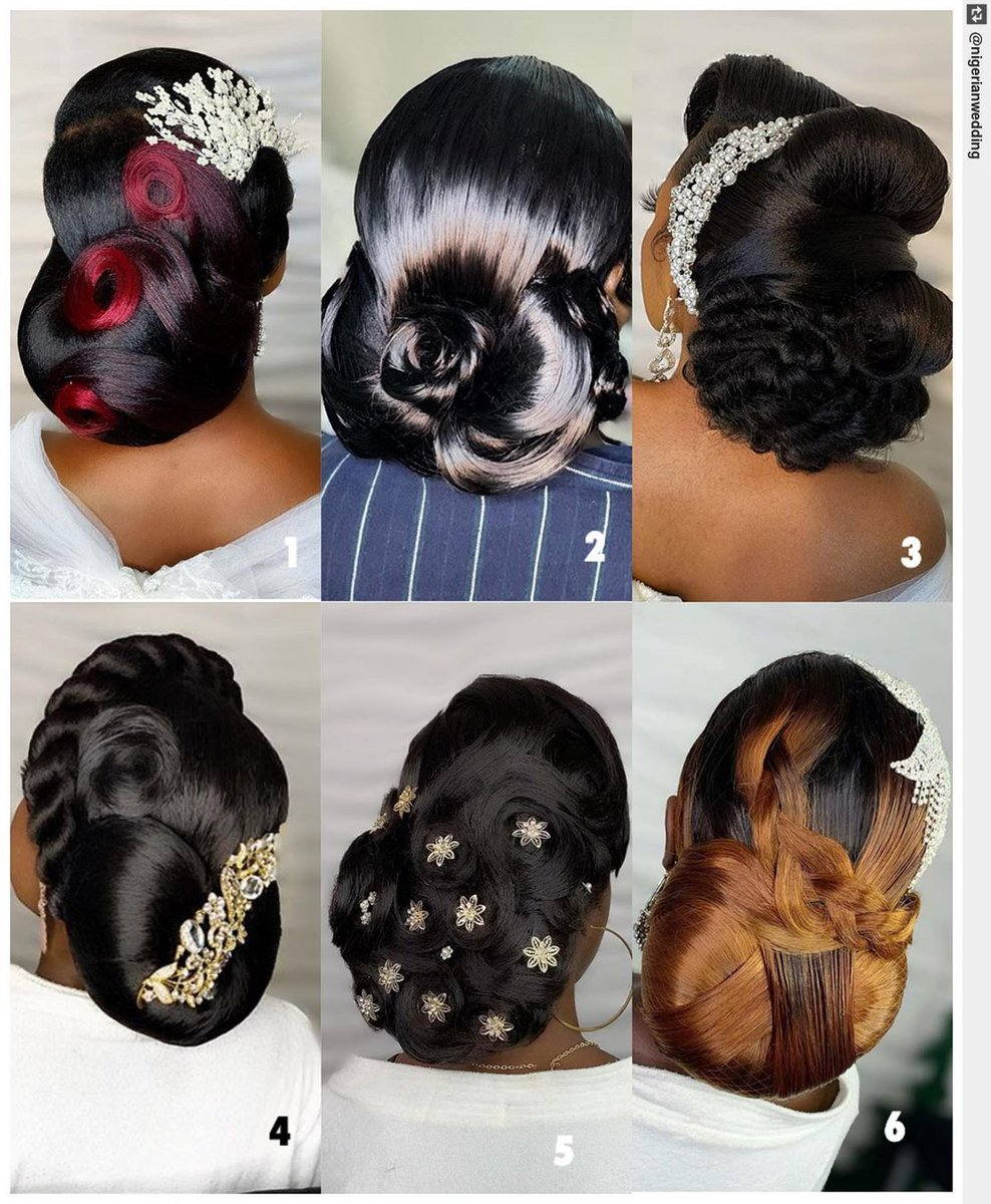 Which bridal hairstyle is your fav? Hairstyles by  #NigerianWedding https://www.betrendsetter.com/unique-wedding-hairstyles/… #weddinghair #bridalhair pic.twitter.com/JmDrQsUpZH