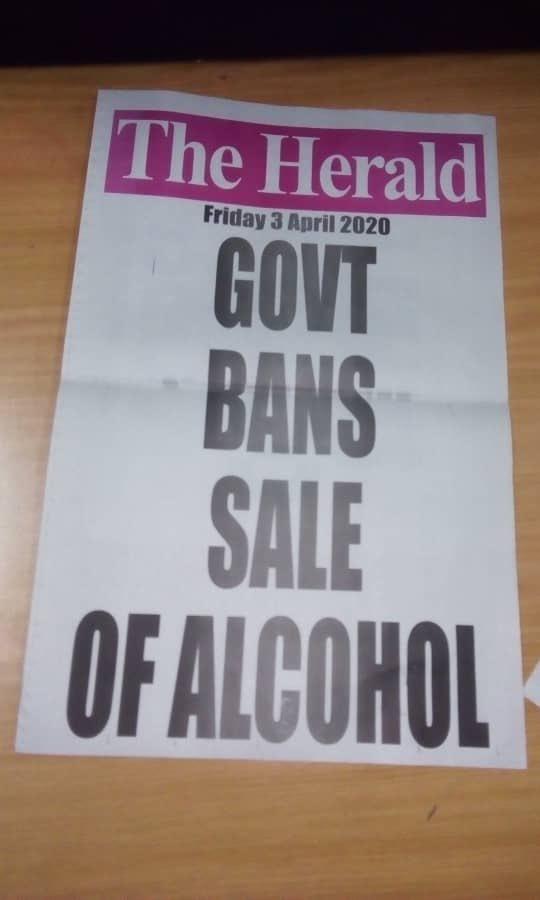 Zimbabwe bans alcohol