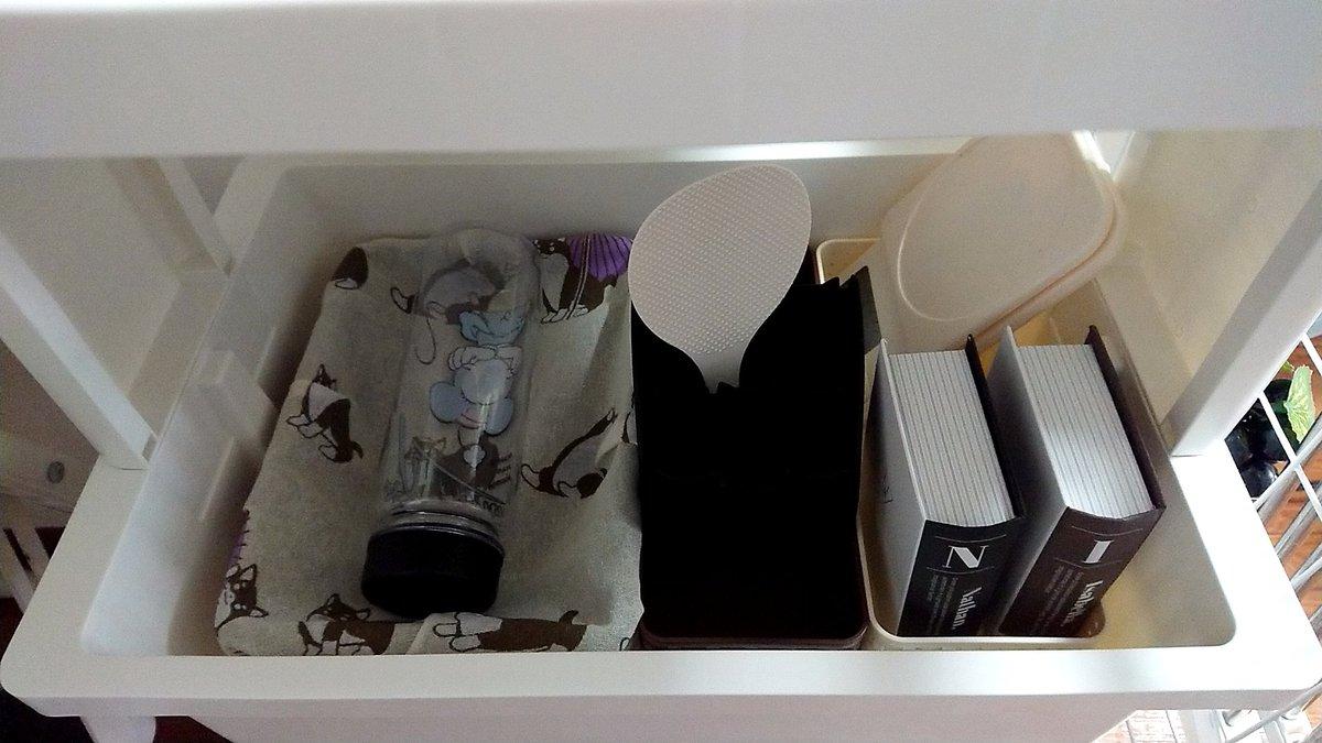test ツイッターメディア - 本型の入れ物オススメです。 私は片方に爪楊枝、片方に輪ゴムを入れました☆ #セリア #ペーパーボックスブック型 https://t.co/Rmafdr3Mwh