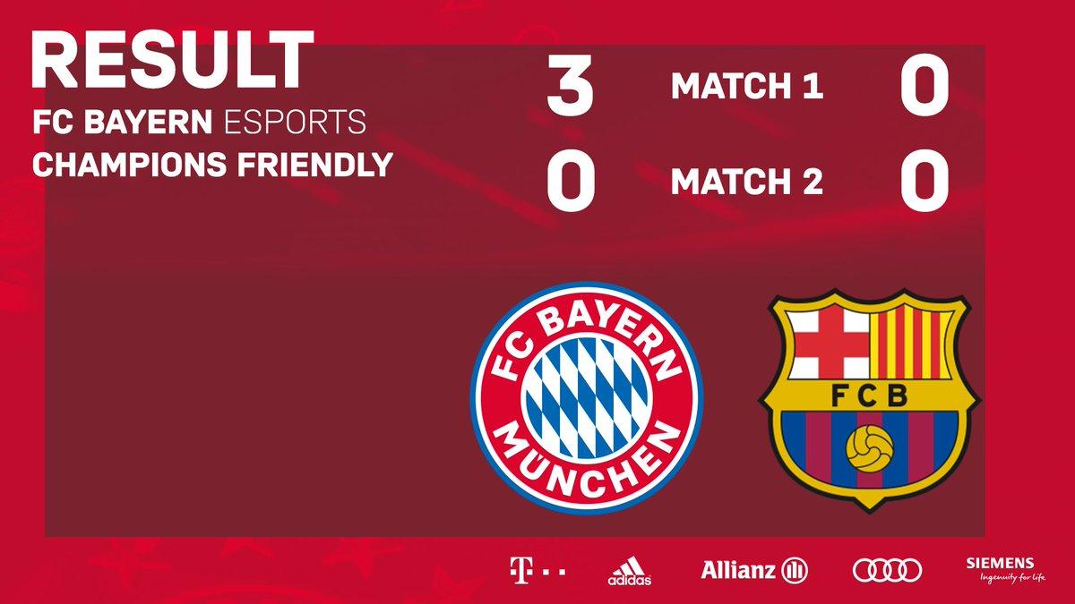 3️⃣ Tore ⚽ 2️⃣ Weiße Westen 🧤   1️⃣ Erfolgreiches Champions Friendly!  🙌 . #fcbayernesports #FCBayern #esports