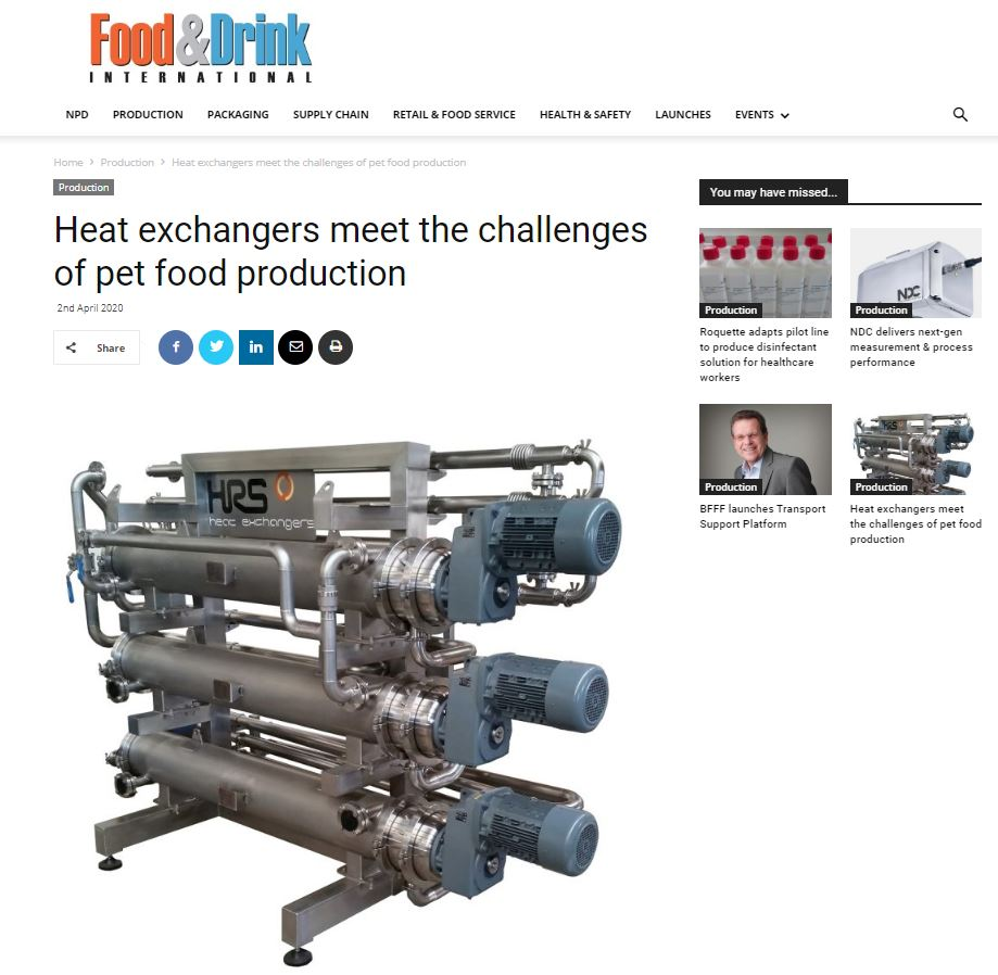 test Twitter Media - Thermal processing is a key part of pet #foodmanufacturing, with processes including heating (pre-conditioning), cooking, drying, #pasteurising and cooling. Find out more how HRS meet the challenges of pet food production. #heatexchangers https://t.co/fPrqlB6w8C https://t.co/FU0ApLZRfV