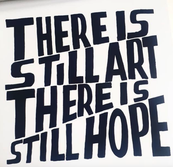 There is still art, there is still hope. We love @bobandrobertasmith for his inspiring messages and faith in art. Thank you Bob and Roberta! Let's all touch in with the power of art this week. #art #creativity #artinspiration #bobabdrobertasmithpic.twitter.com/Pue9oZPV9L