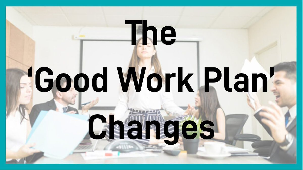The #GoodWorkPlan changes will be in place by the 6th of April .  Is your business contractually compliant? If not, we have prepared a series of videos to help.  To watch the full video on the #GWP click here https://buff.ly/39z59acpic.twitter.com/FdWANJP7Z0