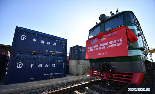 Freight train service between China & Europe overcomes #COVID19 in Q1: State Railway - Number of train trips reached 1,941, up 15% y-o-y - Cargo volume at 174,000 containers, up 18% - Operations in March set all-time monthly high - 333,800 medical relief items sent to EU