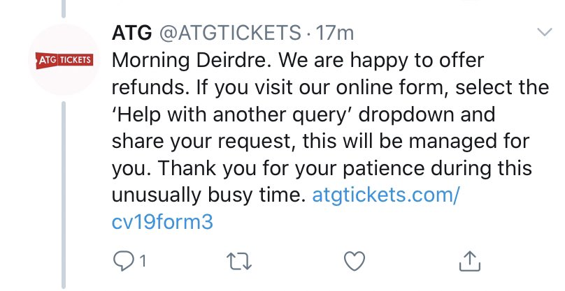 ATG ticket refunds