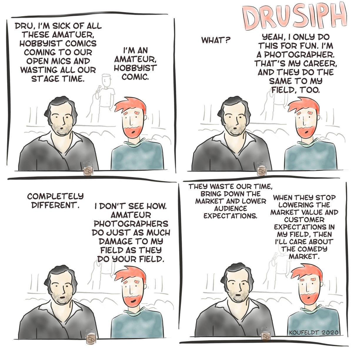 #drusiph #comic #comicstrip #comicbook #comedy #cartoon #webtoon #webcomic #webseries #writing #satire #sarcasm #joke #laughter #humour #funny #comedian #standupcomedy #conversation #dialogue #photography #amateur #hobby #hobbyist #marketvalue #payscale #openmics #stagetime #jobpic.twitter.com/z8tx5jNfNL