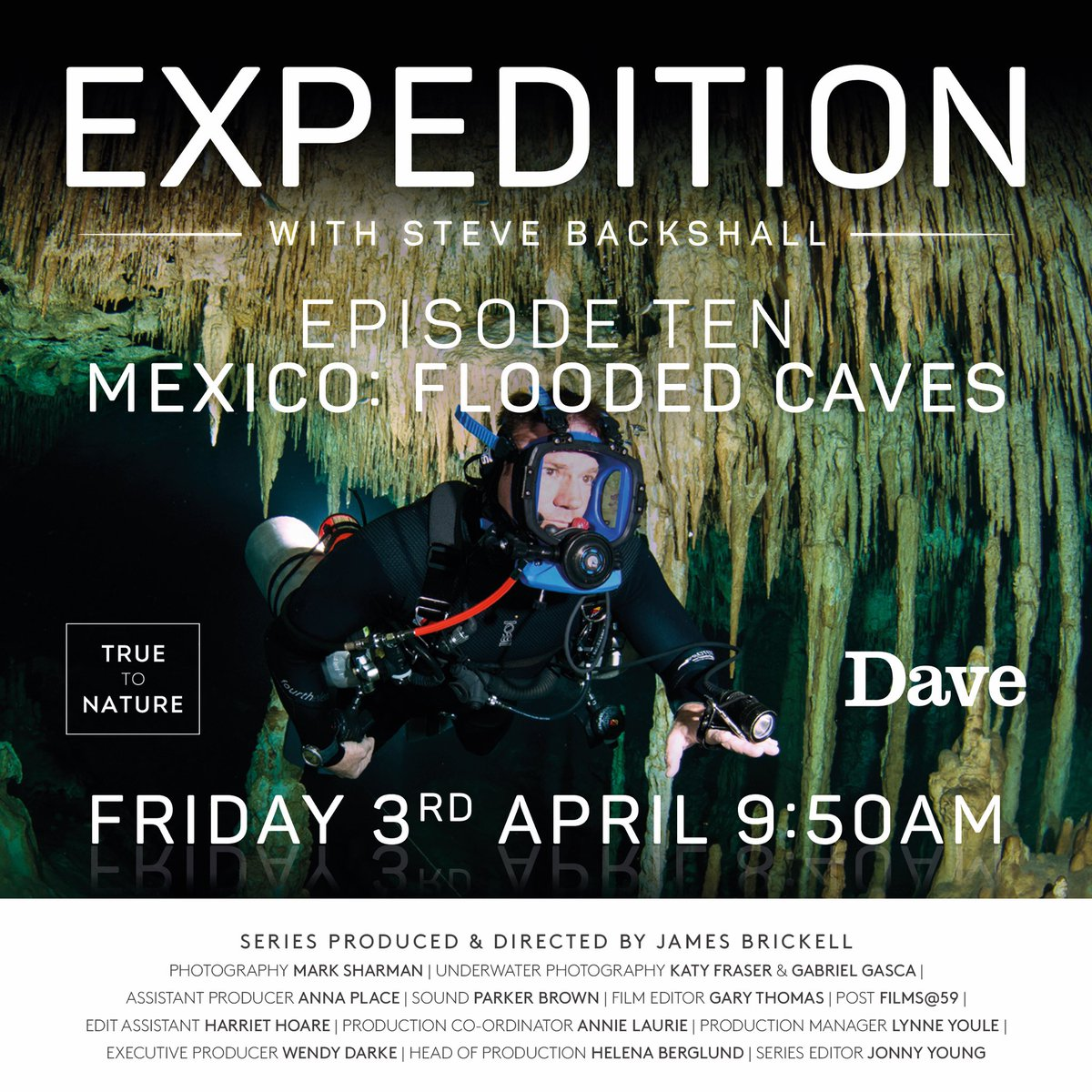LIVE NOW: EXPEDITION with @SteveBackshall on @davechannel https://uktvplay.uktv.co.uk/watch-live #EXPEDITION_withSteveBackshall @FremantleHQ #cavediving #yucatan #expedition #mexico #cenotesmexico #exploration #adventure