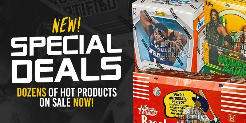 MORE SPECIAL DEALS JUST ADDED: https://bit.ly/2OnRf2C    #SCCTradingCards #TheHobby #Collect #SportsCards #TradingCards #Cards #CaseBreaks #BoxBreaks #SteelCityBreakRoompic.twitter.com/3GYNPSnVKc