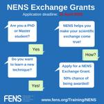 Image for the Tweet beginning: NENS exchange grants for training