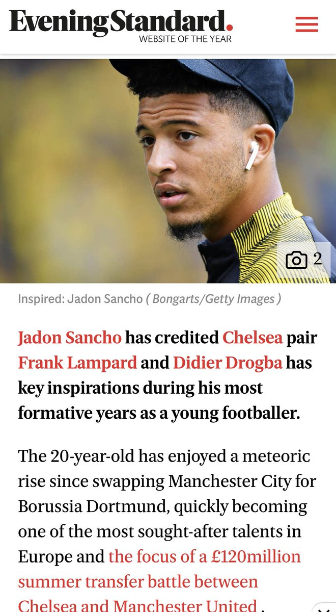 This is interesting, seeing so many different bits of news on Jadon Sancho. But i think everyone has to agree he was a @ChelseaFC fan growing up and one thing I will say to anyone. #OnceABlueAlwaysABlue 💙