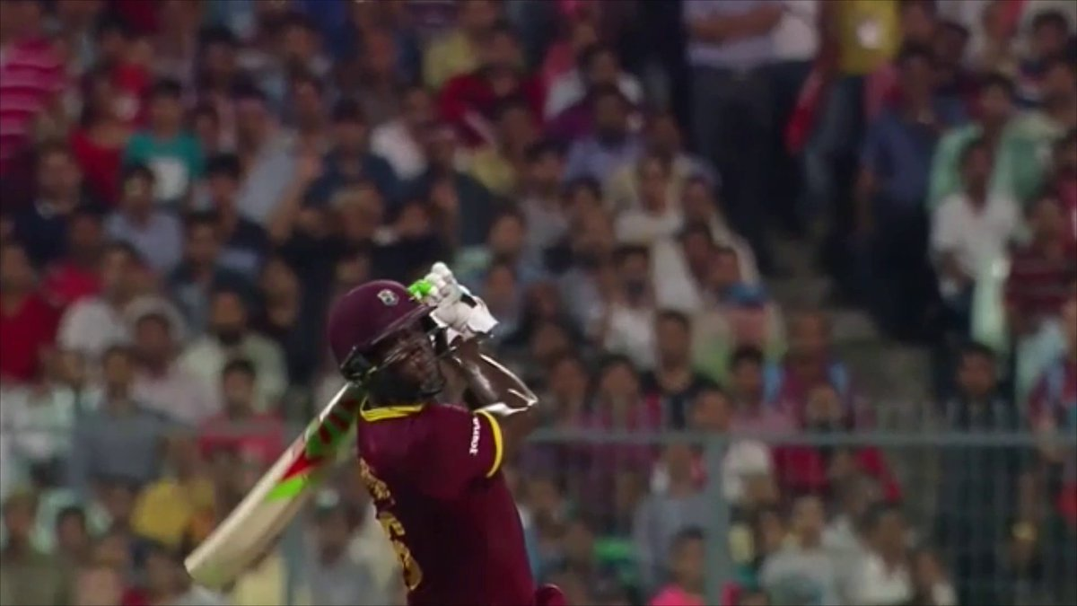 #OnThisDay in 2016... 1️⃣9️⃣ from 6️⃣ balls required to win the #T20WorldCup. Carlos Brathwaite, take it away! 👇