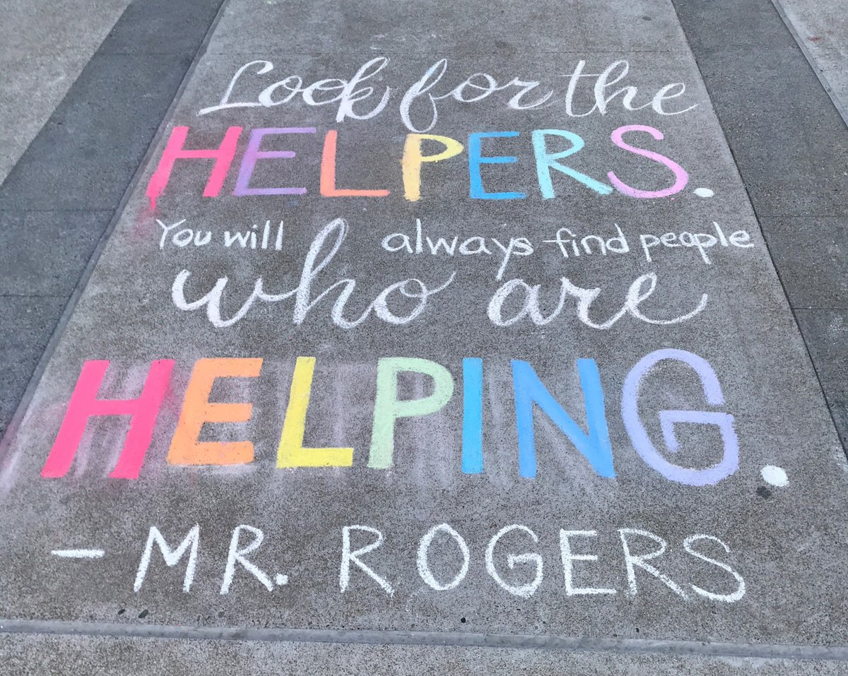 Within the walls of our hospital, you don't have to look far to find the helpers. Beautiful chalk art outside of the Medical Center this morning. #FridayFeeling #HealthcareHeroes<br>http://pic.twitter.com/VhOKL5B6sY