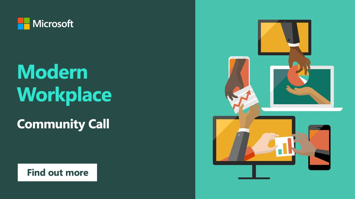 Are you a Modern Workplace partner or looking to enter that space?  Our Modern Workplace community calls are a great way to gain strategy insights and discover resources to grow your business in that area.  Learn more: https:  http:// msft.it/6013TjHIJ       #MSPartner #ModernWorkplace <br>http://pic.twitter.com/xu83Vy8FWp