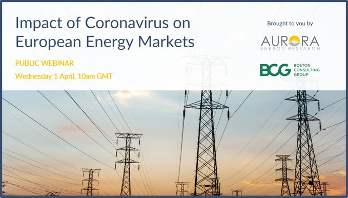 Great thread from @UKPolicyWonk of @AuroraER_Oxford  on energy sector impacts of Covid-19 based on a webinar, supported by @BCG.