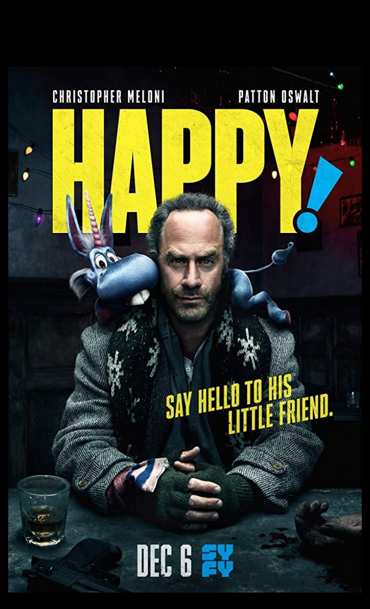 Happy: God? God: Let's call me, uh, an imaginary friend. Only, my friend, uh, happens to be, you know, a whole civilization. #happy #Netflix #atheist