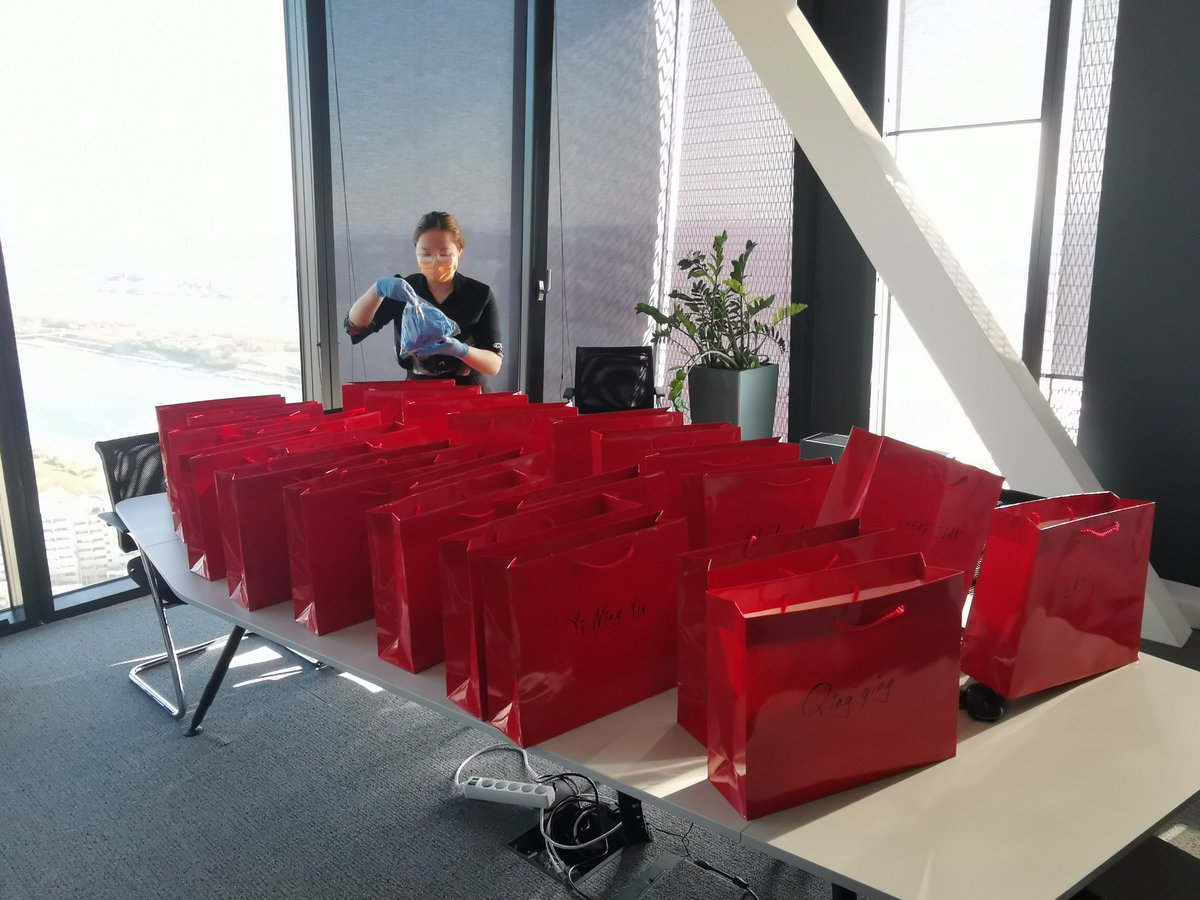 During these hard times, the well-being of our employees is #CRRC ´s greatest concern. Today, a care package filled with protective articles has been sent out to all #employees! We #stayunited!  #employeebenefits #COVID19 #healthcare #railway #rollingstock #Coronakrise #Maßnahmen