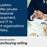 GSA's #acquisition solutions offer private sector professional services, equipment, supplies, and IT to government organizations and the military. Learn more: https://t.co/T9STfBK6jJ