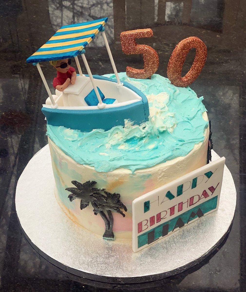 Enjoyable Cakes By Chlobo On Twitter A Miami Vice Inspired 50Th Birthday Funny Birthday Cards Online Hendilapandamsfinfo