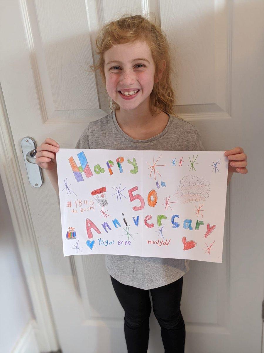 @ysgolbrynhedydd Yasmine's poster. Happy 50th Anniversary pic.twitter.com/adckNqdps4