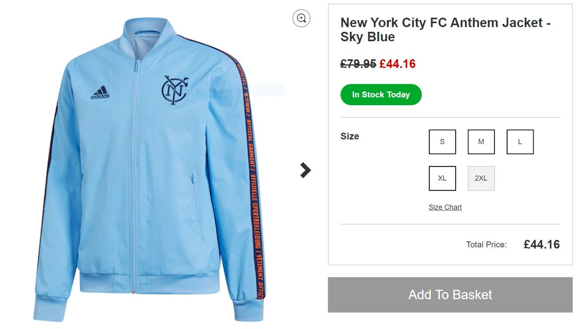 OOOO @KitbagUK have the Adidas anthem jacket, made famous to me by @didychrislito is now on sale with most sizes in stock. Is it  or???  #MLSUK #NYCFC  #ForTheCity #NYisBLUE<br>http://pic.twitter.com/uGyDKEvj0z