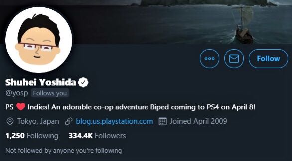 Shuhei Yoshida On Twitter Now With The Banner Looking Forward To Playing The Game With My Daughters
