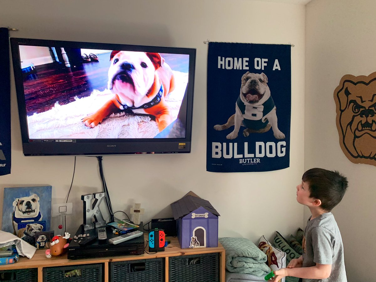 @TheButlerBlue We're all watching from home, pal.
