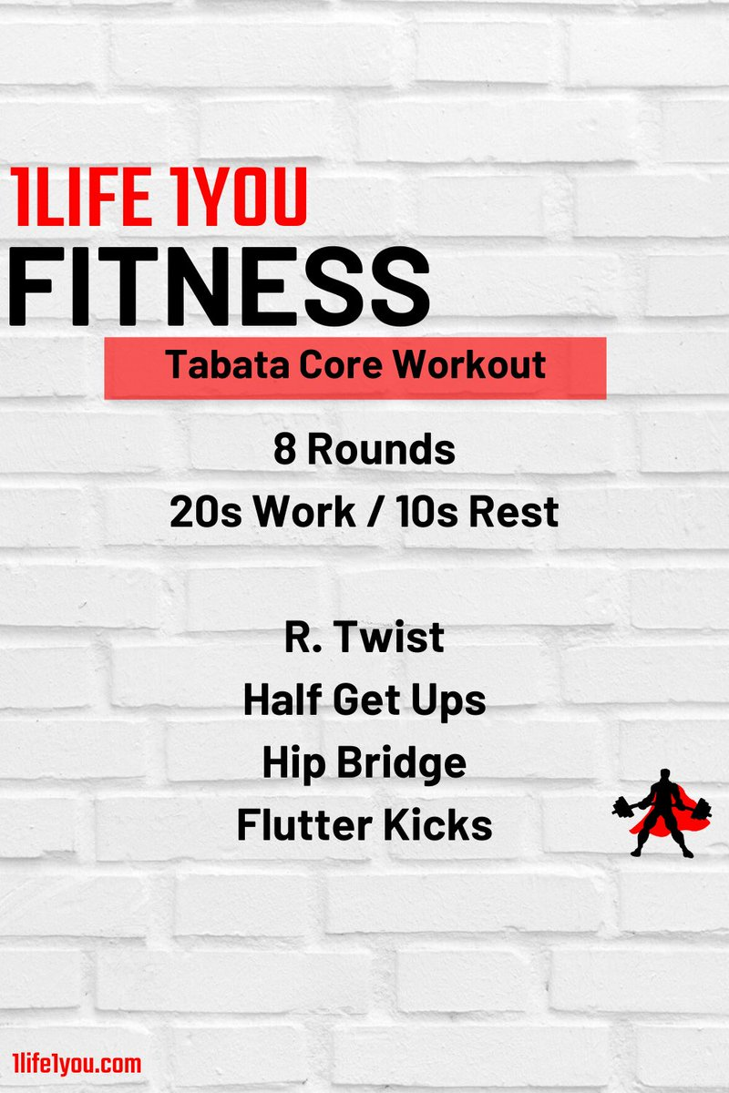 "A ""quick"" 16 minute #tabataworkout for your core. . If you have weights, use them. Though, they are needed to get a quality workout in #1life1youfitnesspic.twitter.com/AsSEhSEG26"
