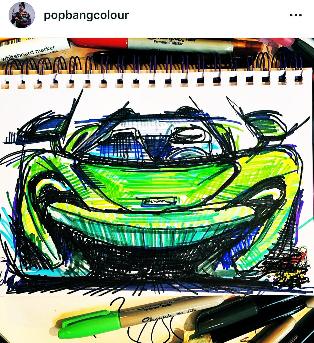 Absolutely love this drawing by @Popbangcolour of the @McLarenAuto #600LT! 💚 After my amazing #F1PirelliHotlaps experience at @SilverstoneUK last year thanks to the brilliant @McLarenF1 guys, you can see why this car means a lot to me 🥺 Thankyou, Ian! 👏🏻  #ContinousCars 🖍 https://t.co/uHbjl3tq5P https://t.co/uiz0HuP5tl