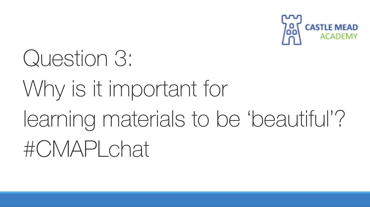Last one for today... Question 3. #CMAPLchat @MaryMyatt