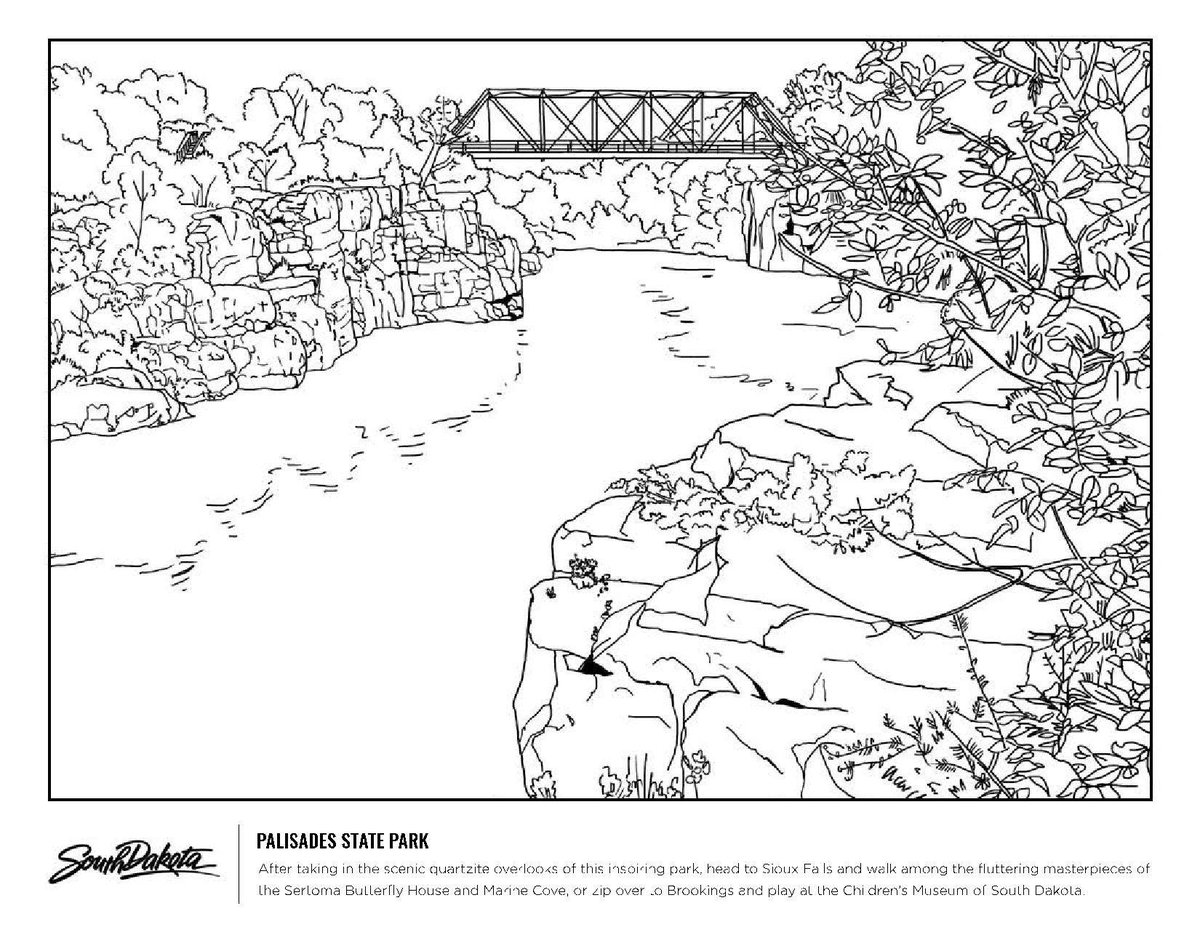 South Dakota Coloring Page - Free USA Coloring Pages ... | 927x1200