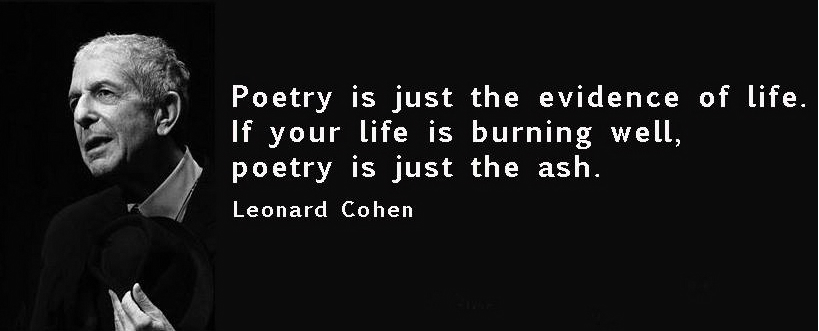 April is National Poetry Month! So go ahead, feel all the feels this month, and let it all out - we're ready for it #ezInsure #nationalpoetrymonth #feelthefeels #leonardcohen #poetry