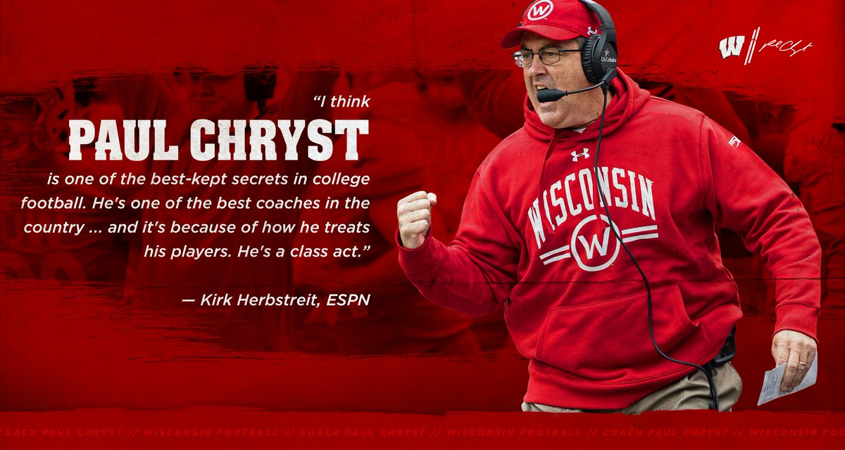 It's no secret around here. Proud to have Coach Chryst at the helm. #OnWisconsin