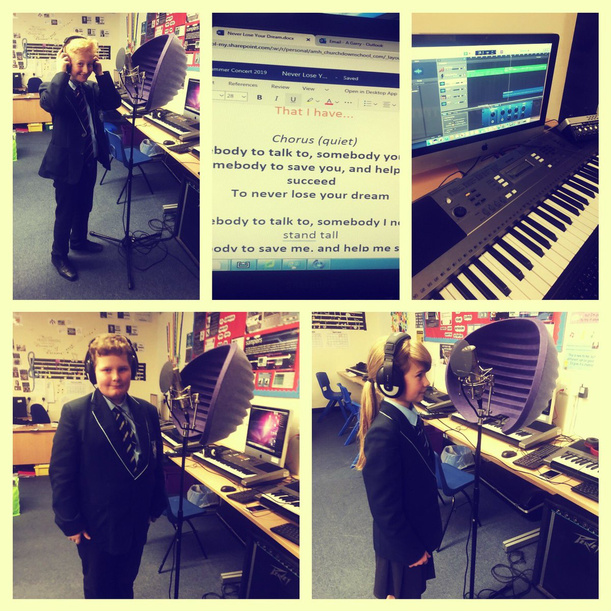 Music activity afternoon! Recording a new chorus for the school anthem. #socialdistancing #musicmatters #getcreative #liverecording #LogicProX pic.twitter.com/M57yebBZNI