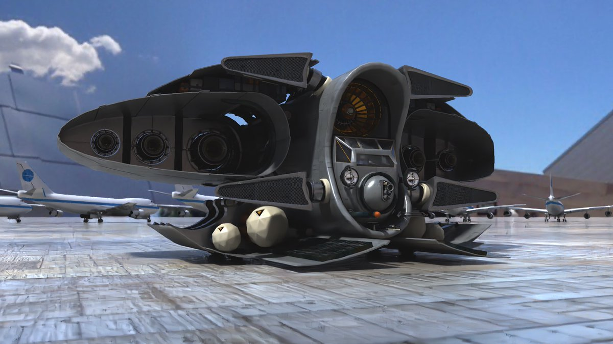 Corsair on Tarmac 2020 tee3d - - #lightwave3d #lightwave3dmodeler #corsair #3dart #conceptart #spaceship #airframe #sciencefictionpic.twitter.com/4Ge8YTTQSp