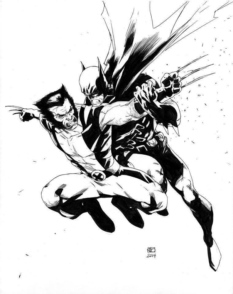 Wolverine vs. Batman by Khoi Pham #Wolverine #Batman pic.twitter.com/D15nMpqEMl