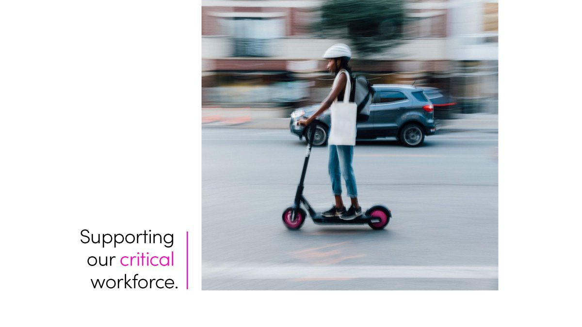To make essential trips more affordable for critical workers, we're offering free scooter trips to first responders, transit, and healthcare workers. Through the #LyftUp  program, we're working to expand access to essential transportation.  http://lft.to/LyftUp-Scooters