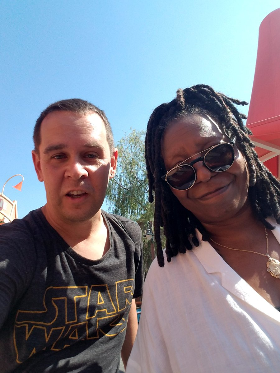 @TheView we miss all of you someday we will be together like Supremes sing here is happier times  from @KBlack2595 I Just met Whoopi Goldberg in Disneyland DCA at cozy cone in cars land #Woopi Goldberg #Disneyland #DCA #carsland https://t.co/bGjkUUNFKa