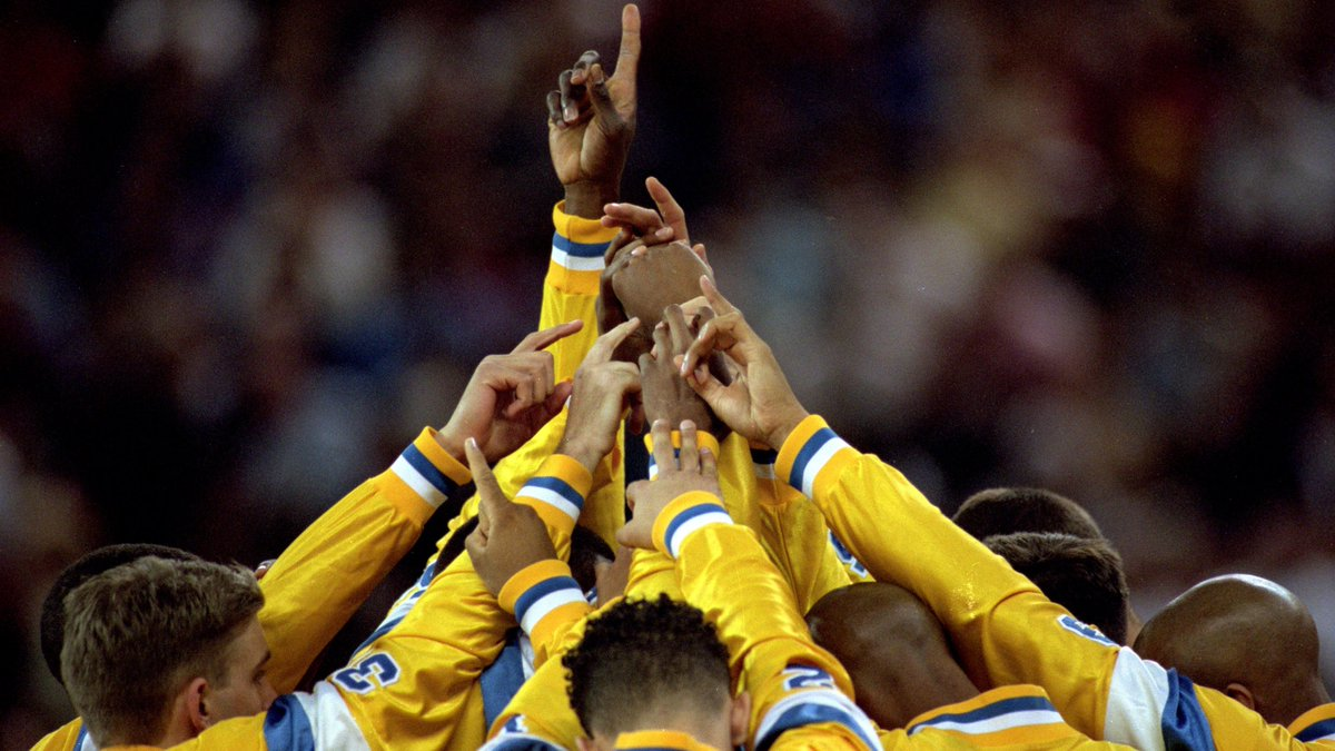 The Bruins had broken huddles at preseason workouts shouting 'One, two, three … Kingdome! and here they were, 12 miles away from the building ... A nostalgic look at UCLA's 1995 championship run, via @TheAthleticCBB. READ: bit.ly/2R8UMDy