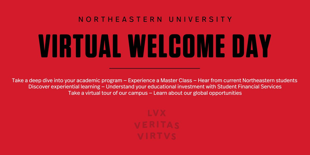 You're social distancing — so are we. But that doesn't mean we can't welcome you to your new school! Admitted students, check your App Status Check for a link to our Virtual Welcome Day. https://t.co/7qAmItp4wD