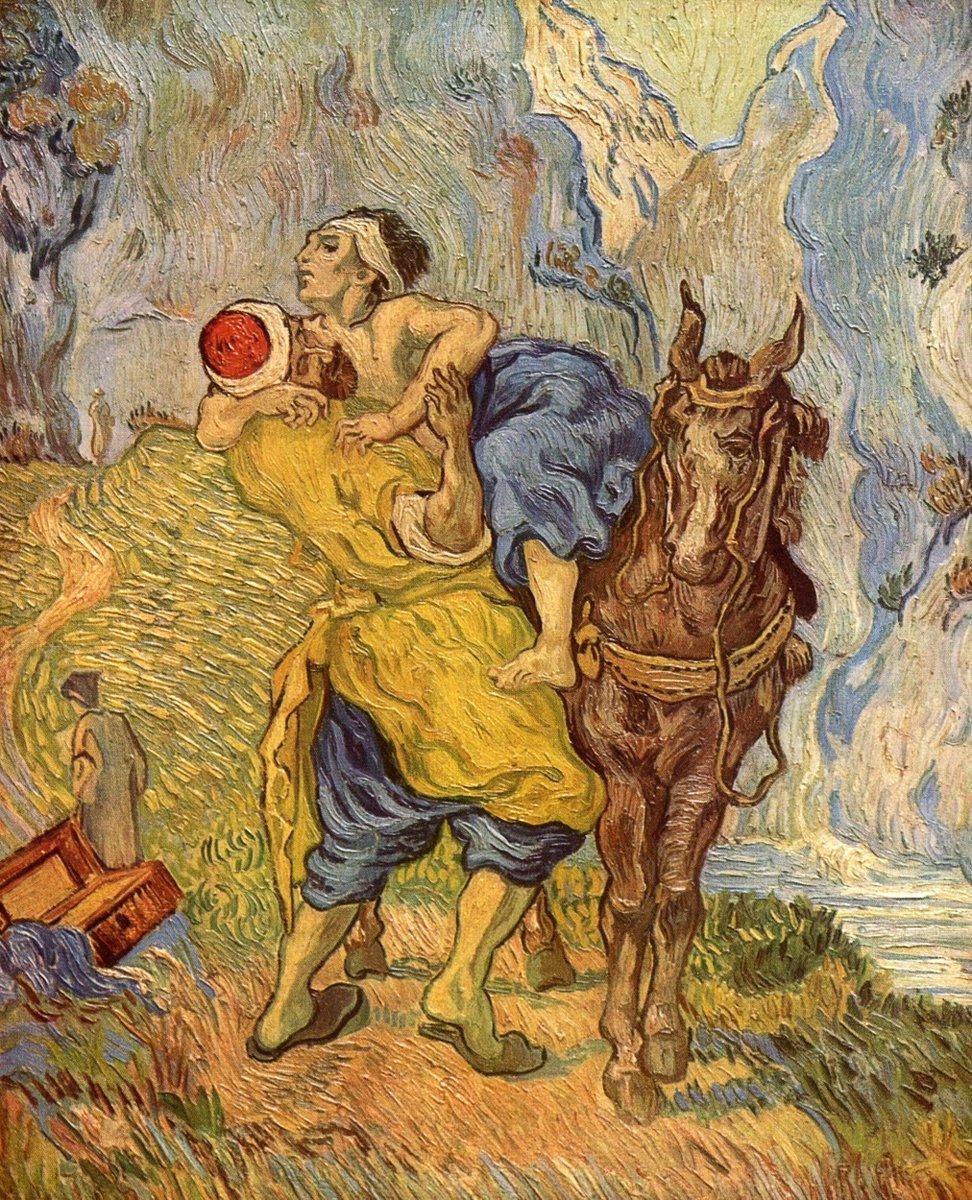The Good Samaritan (1890) by Vincent van Gogh (Dutch, 1853-1890). #Victorian #Postimpressionismpic.twitter.com/eyj1IJnh8t