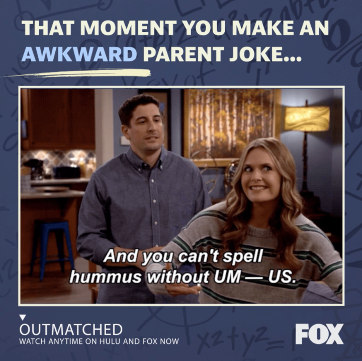 Now that's what we call a knee slapper! 😆 Watch the ENTIRE SEASON of #Outmatched ANYTIME: fox.tv/outmatchedtw