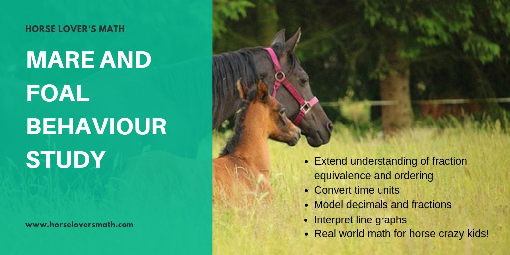 Free #STEM post for #horsecrazy kids: How does distance change over time between a mare and her foal? stuhttps://www.horseloversmath.com/mare-foal-behaviour #athome #homeschooling #horses #learningathome #mathathome #edchat #elemchatpic.twitter.com/QXr7wL3EKO