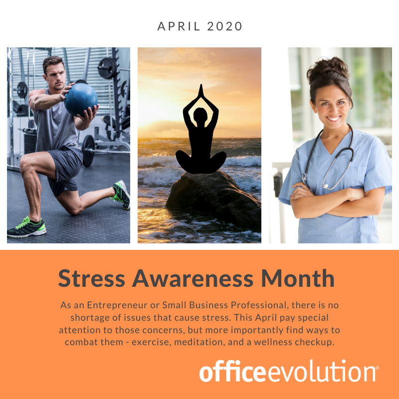 Now, more than ever, it's important to take care of yourself!    #OfficeEvolution #AprilStressAwarenessMonth #stressreduction #exercise #meditation #wellness #takecareofyourself #OEPearlRiver<br>http://pic.twitter.com/gJA6Tjc04x
