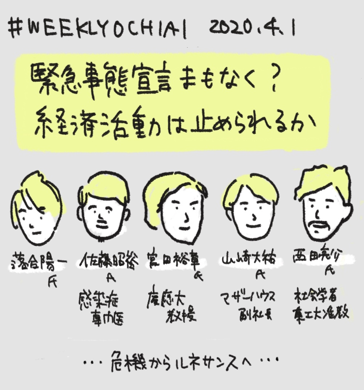 【緊急事態宣言まもなく?「経済活動は止められるか」】海外で次々に強権発動の中、なんとか自粛要請で凌ぐ日本。緊急事態宣言を求める声が大きくなりつつあるけど経済を止めたら失業からの自殺増加も懸念…↓画像メモは6枚です #NewsPicks #weeklyochiai