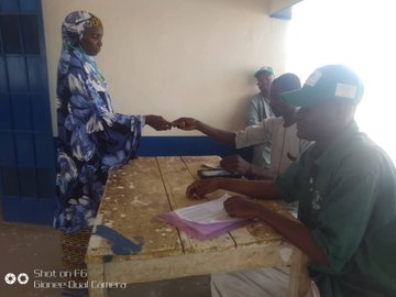 Payment of beneficiaries at Tsabre Ward, Isa Local Government Area,Sokoto State.