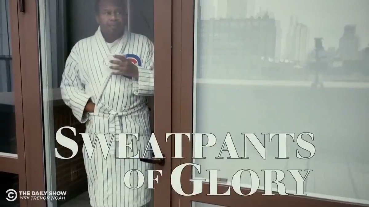 """Not all heroes wear capes. Some wear sweatpants. 'Sweatpants of Glory"""" starring @roywoodjr:"""