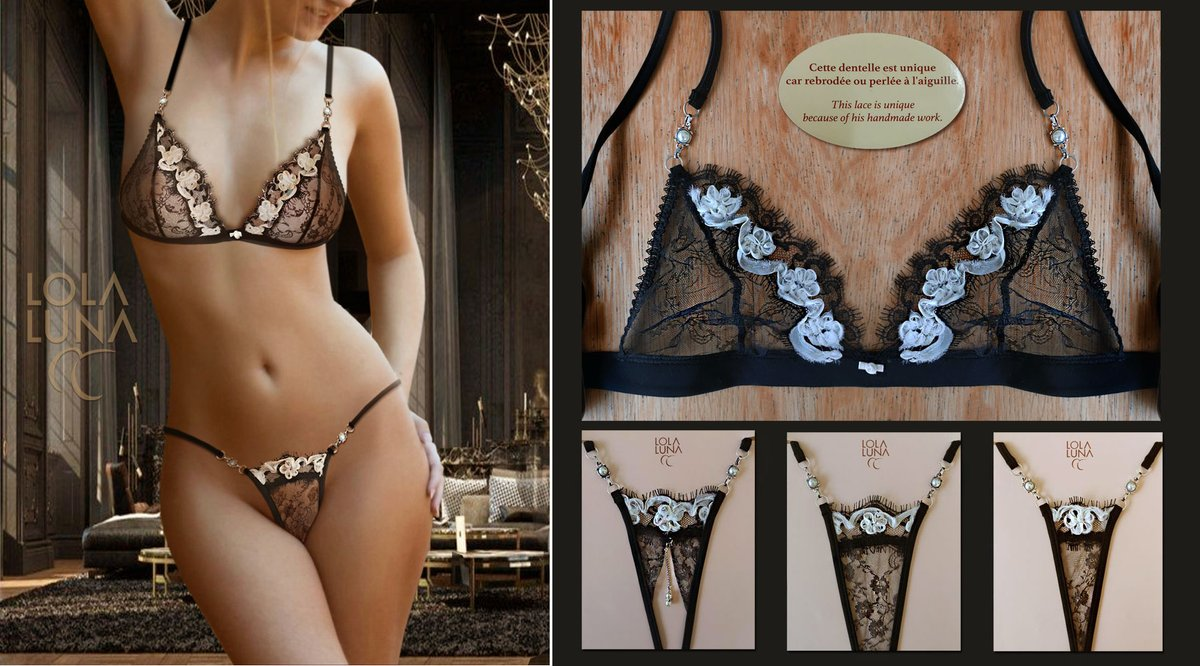 New! Belize set with matching thongs   Lola Luna #fashion #luxury #handmade #beautifulwoman https://www.lolaluna-shop.com/en/sets-bra-string/462-belize-set-.html…pic.twitter.com/v1RphgVuCg