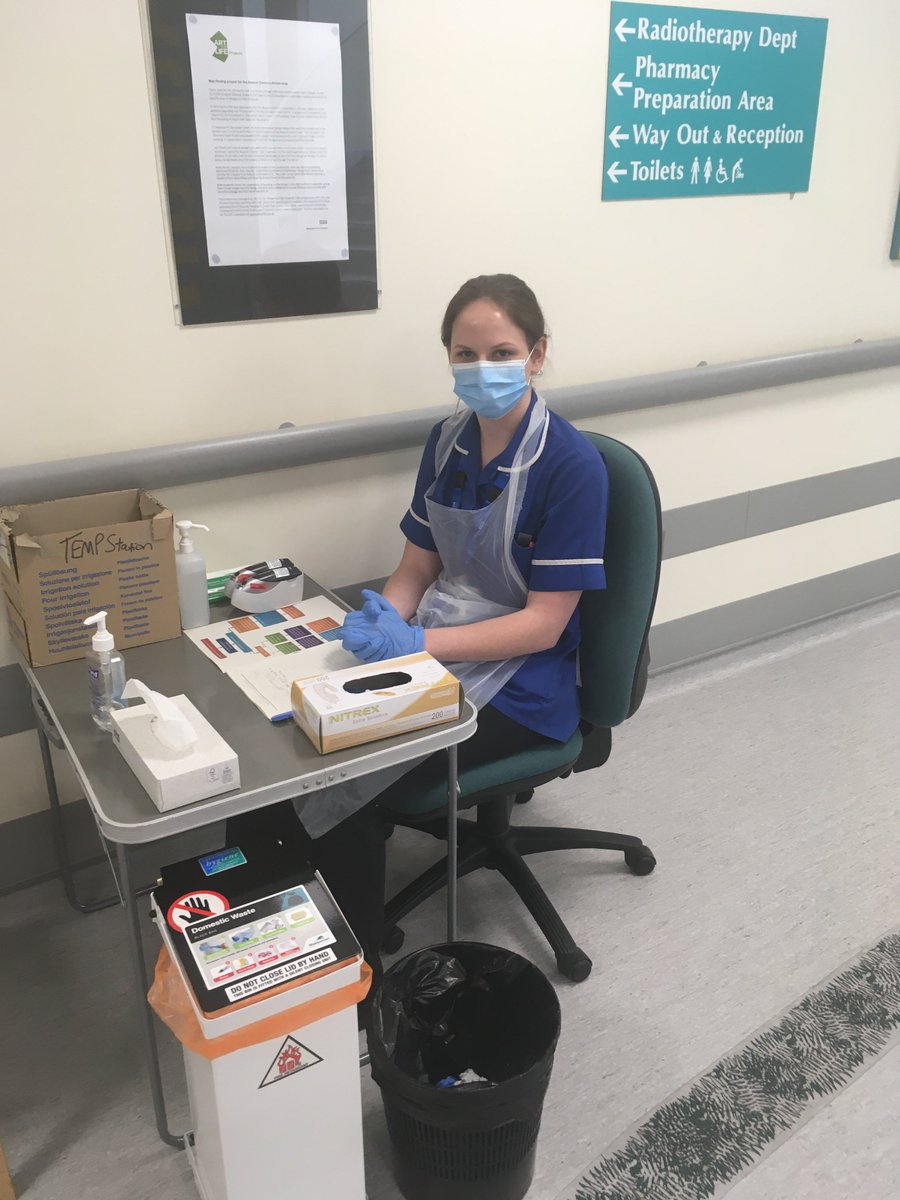 A big shout out to our therapeutic radiographers @SCoRMembers who are working tirelessly to deliver a normal radiotherapy service during the Corona pandemic. Dressed in masks, goggles, gloves & aprons they are striving to provide the very best patient focused care @SomersetFT