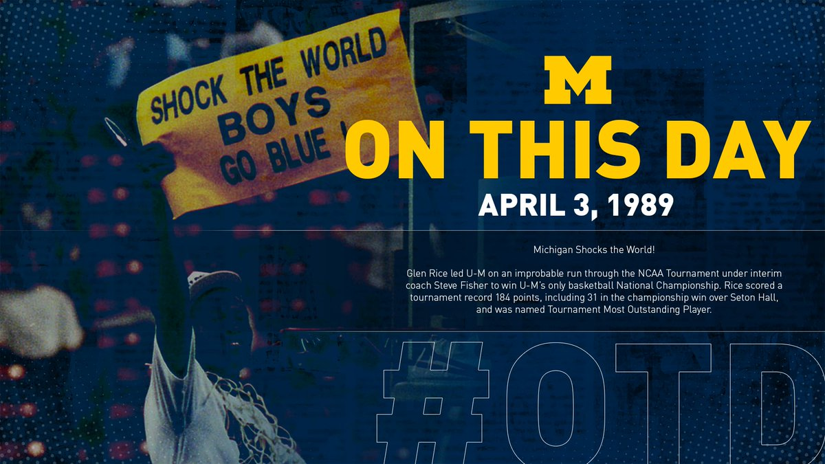 31 years ago today ... we SHOCKED THE WORLD! #GoBlue 〽️🏀